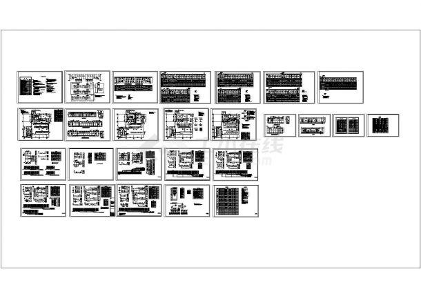 商场10KV变电所接线设计cad图,共二十六张-图一