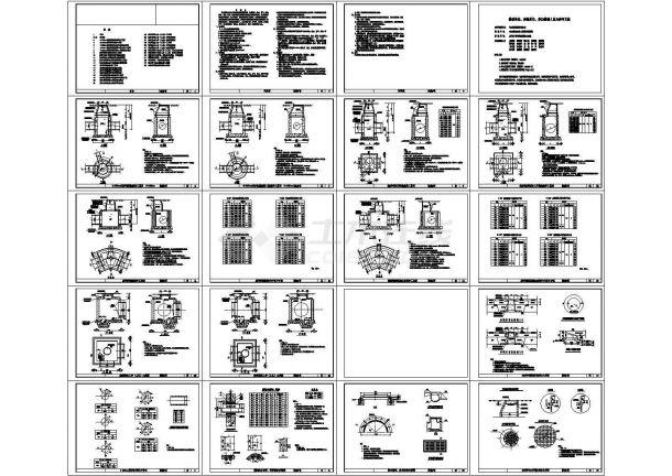 某检查井标准工艺节点构造详图-图二