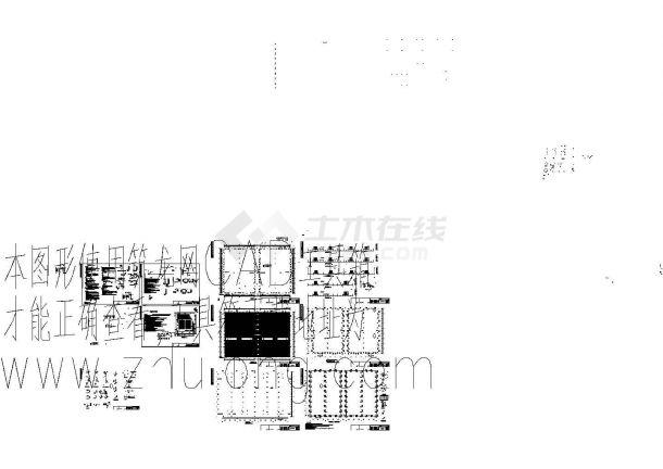 扬州某单层钢筋混凝土柱厂房cad详细设计图-图一