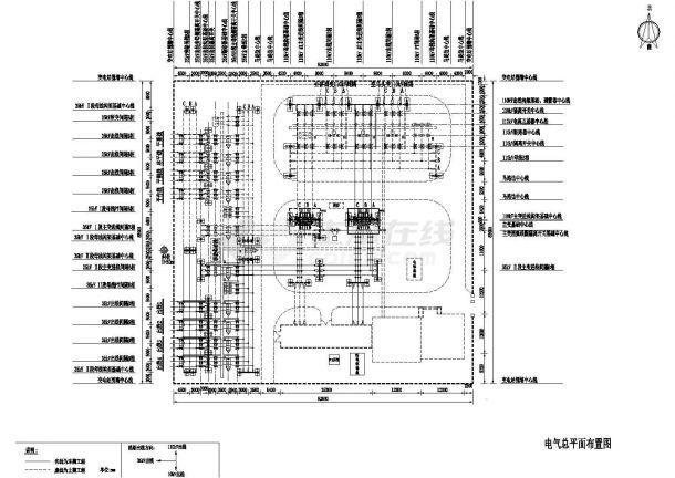 110kV变电所总平面图-图一