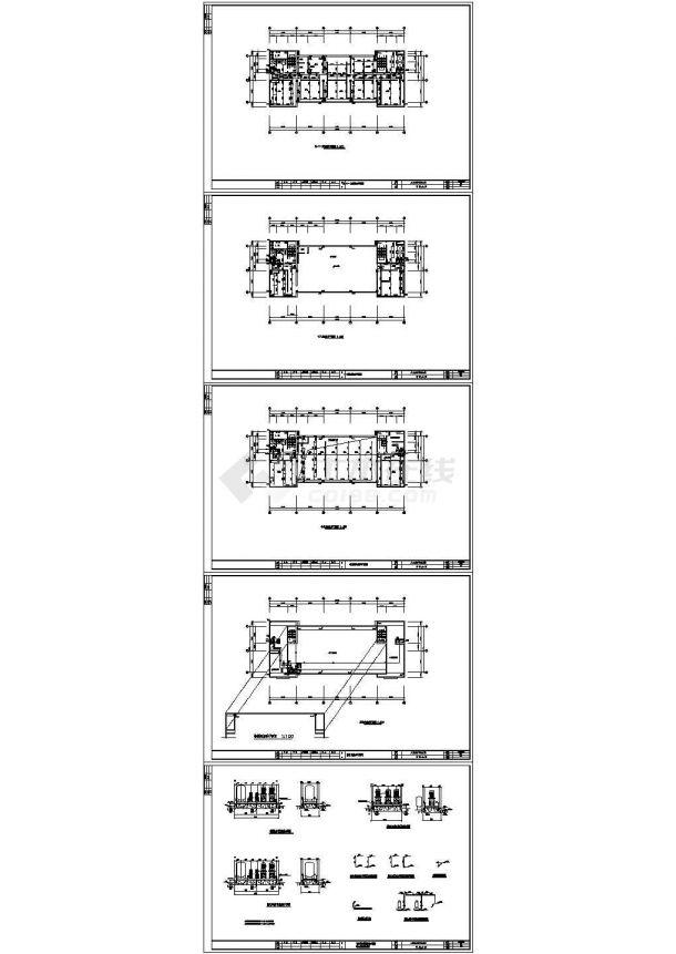 某人民法院多层框架结构办公楼给排水设计cad全套施工图(含设计说明)-图一