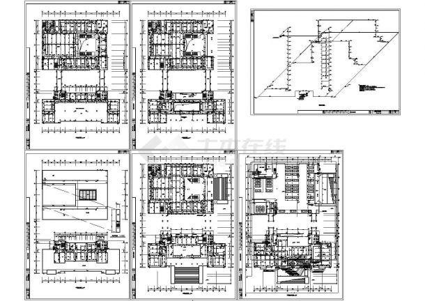 某人民法院多层框架结构办公楼给排水设计cad全套施工图(含设计说明)-图二