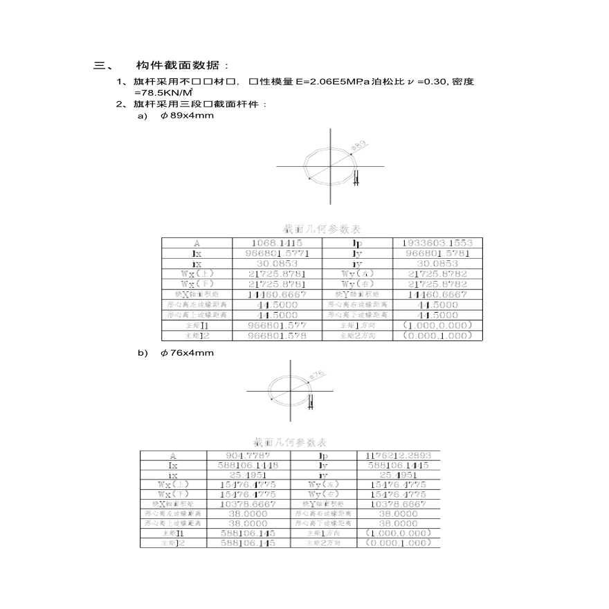 屋顶旗杆结构计算书旗杆结构计算书-图二