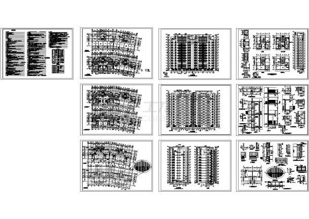 小高层框架结构大厦全套建筑设计cad图纸-图一