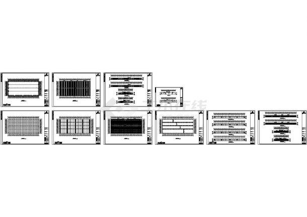 16269平方米钢结构厂房工程设计施工cad图纸,共十张-图一