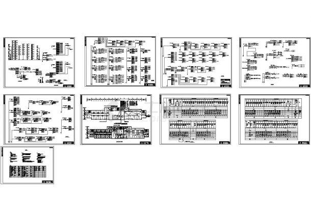 榆树医院多层综合楼照明系统设计施工cad图纸,共九张-图一
