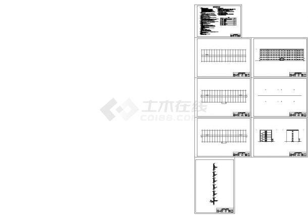 五层框架结构教学楼毕业设计图纸(含结构设计、建筑设计、计算书、毕业答辩)-图二