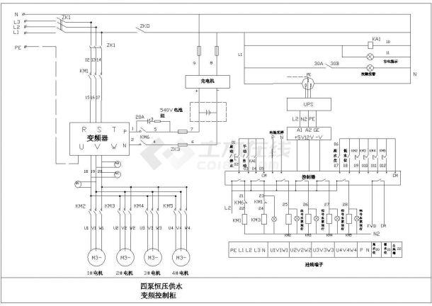 某大型消防泵应急电源设计施工方案完整CAD图纸-图一