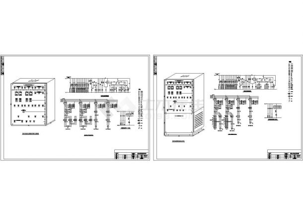某消防泵泵控原理使用设计施工方案完整CAD图纸-图一