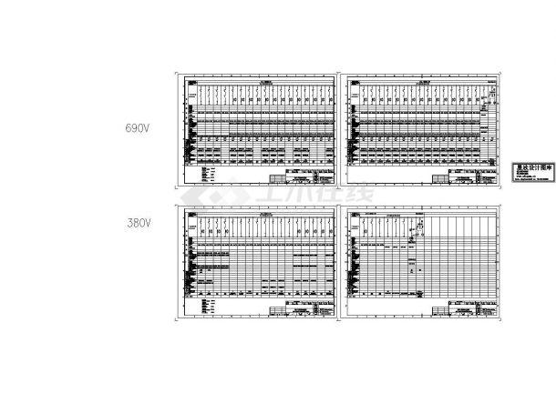 综合厂房低压配电系统图-图一