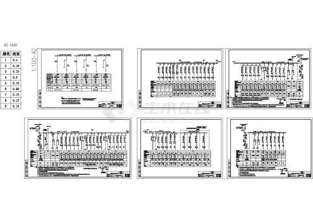 百佳低压配电系统图(cad图)-图一