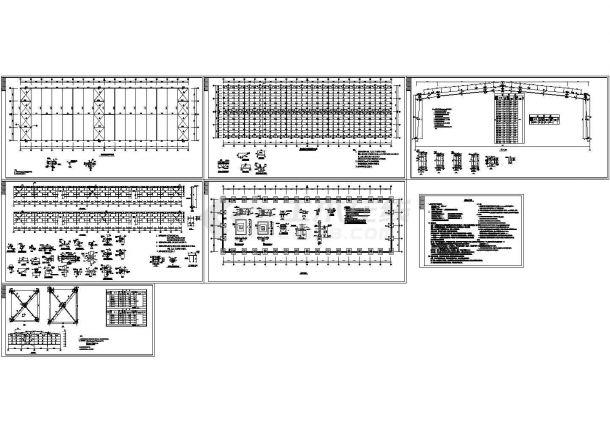 30米跨单层门式刚架轻钢结构厂房结构cad设计图-图一