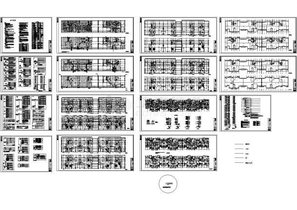 某高层住宅楼电气电力CAD设计施工图纸-图一