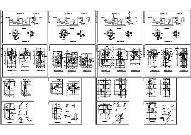 别墅建筑空调系统设计施工CAD图(含给排水设计)-图一