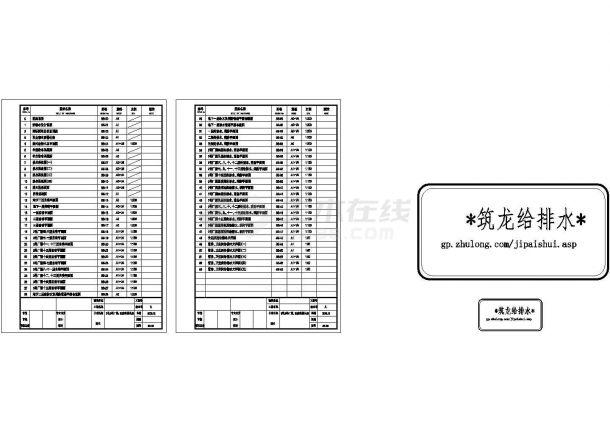 [深圳]15层创新工业园厂房建筑给排水图纸-图一