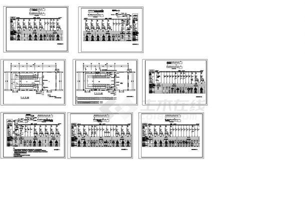 变配电室配电系统设计cad图,共八张-图一
