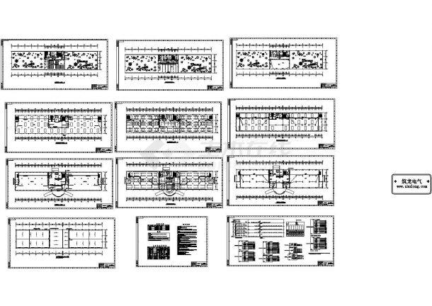 某五层综合办公楼电气施工CAD图 ,12张CAD图纸-图一