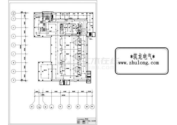 公共中心火灾报警系统平面图-图二