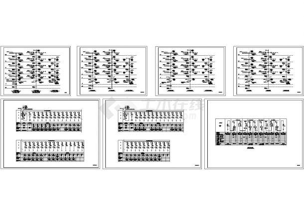某小区高层住宅高低压配电系统图-图一