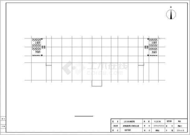 4700平米5层办公楼结构设计与施工组织设计CAD图-图二