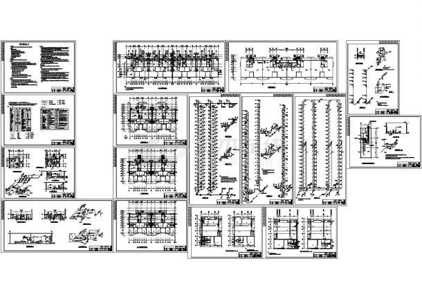 带地下室高层办公楼给排水设计施工图-图一