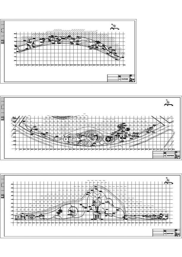 江西某滨湖公园景观设计CAD施工图-图二
