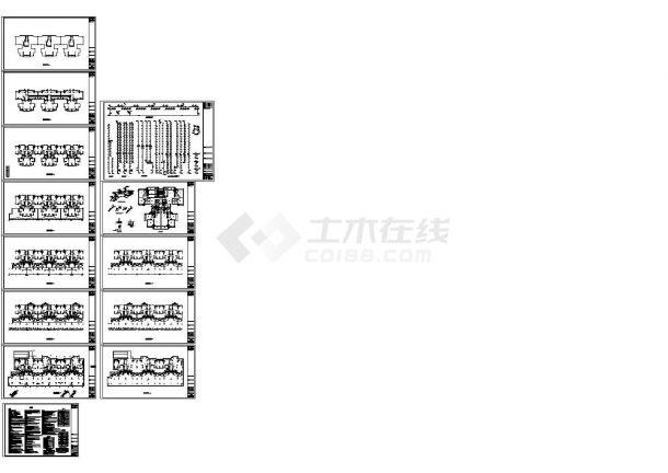 [四川]住宅小区给排水施工图纸(含四栋楼、地下室)-图一