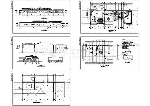 黑龙江某招待所建筑设计方案图-图二