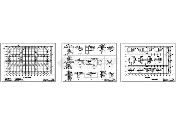 单层带天车钢结构厂房结构施工图-图二