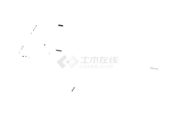6m×6m溧水汽车棚膜结构工程设计cad施工图-图一