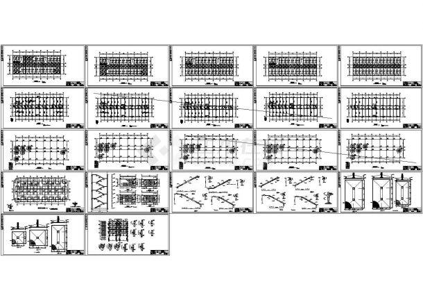 4426平米五层框架结构教学楼建筑施工cad图(含计算书,计算书)-图二