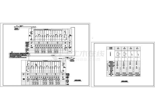 某别墅区高低压配电系统设计CAD图-图一
