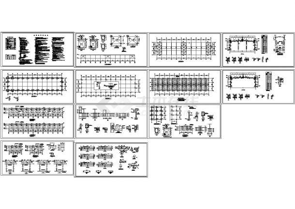 15m跨轻钢结构厂房结构施工图-图一