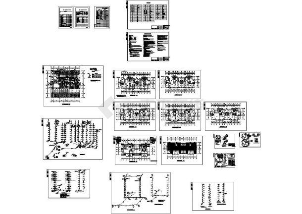 某九层普通住宅给排水设计图-图一