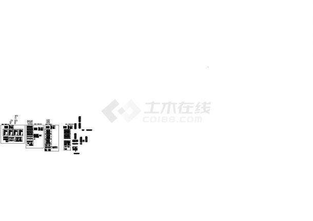 [苏州市]某商业街工程建筑结构水电施工图-图二