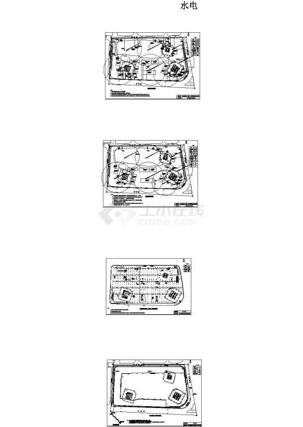 07-太古汇商业酒店工程临水临电施工现场平面布置图-图一