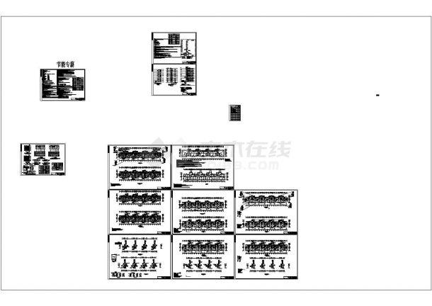 小高层框架结构住宅楼配电设计cad全套电气施工图纸(含设计说明,含弱电设计)-图一