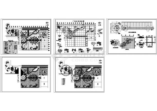 某小广场绿化设计施工图-图一