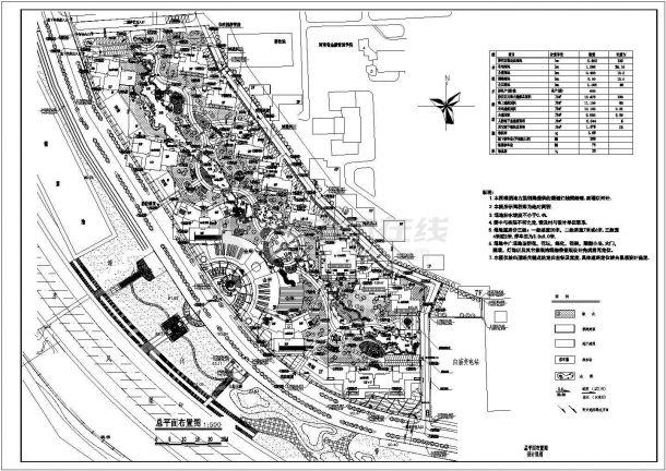 某小区住宅规划设计cad图(含总平面图)-图一