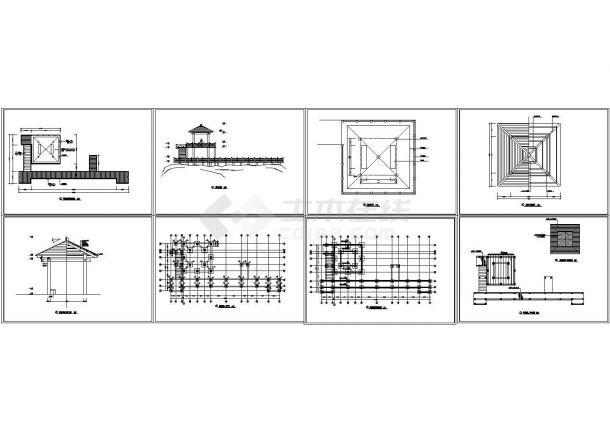 深圳兰溪谷郊野公园景观设计cad图,共七十七张-图二