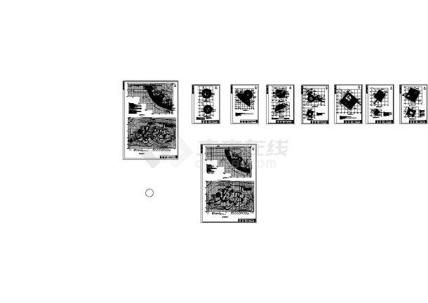 山东某县环岛公园景观设计cad图(含总平面图)-图一