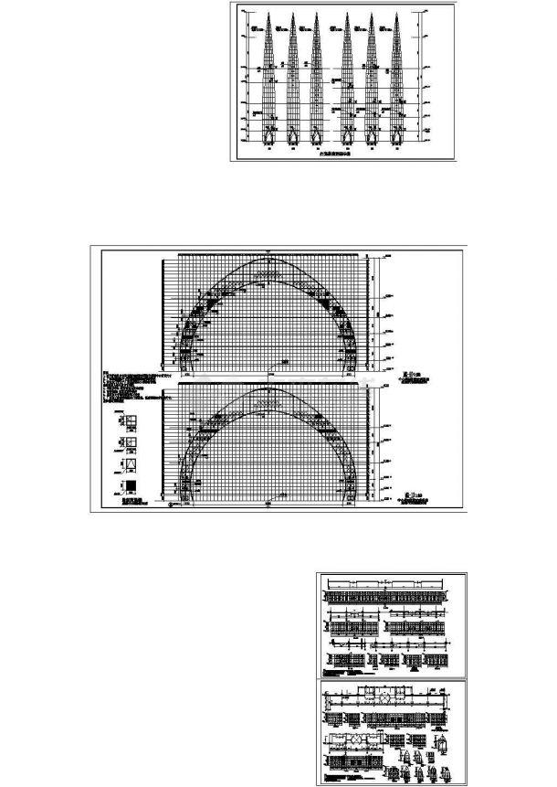 8万平内外壳钢桁架结构歌剧院建筑设计CAD施工图-图一
