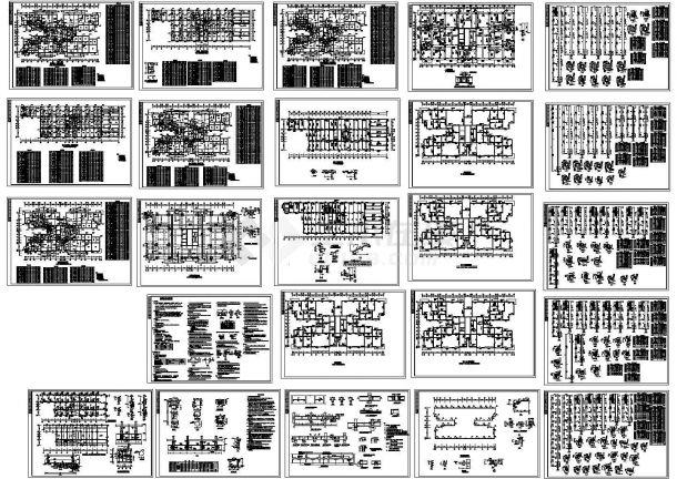 某19层框架剪力墙结构住宅楼(占地1055㎡)设计cad全套结构施工图(含设计说明,24张图)-图一