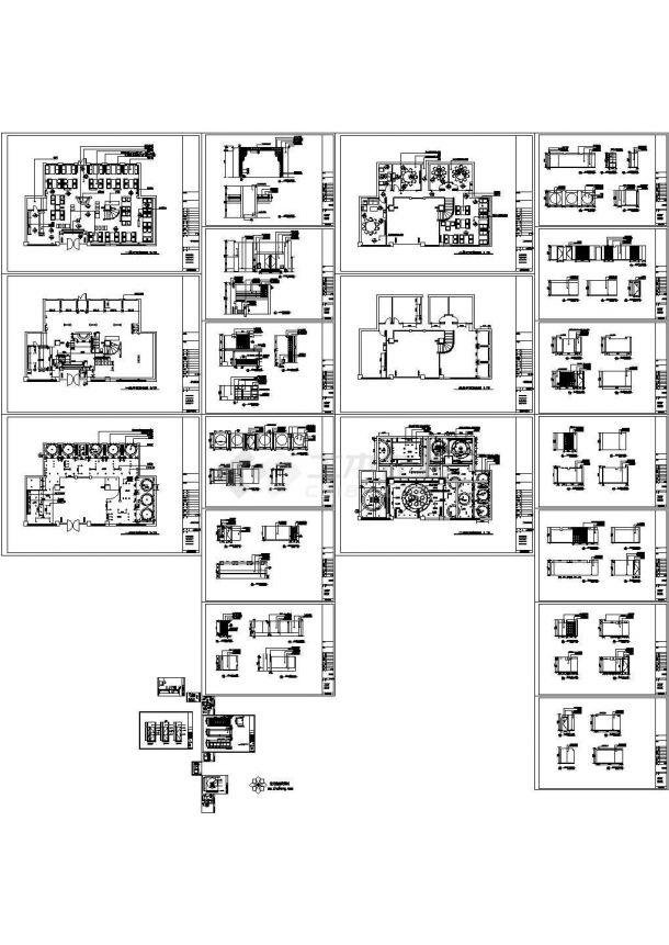 某茶园室内装修设计cad施工图-图二