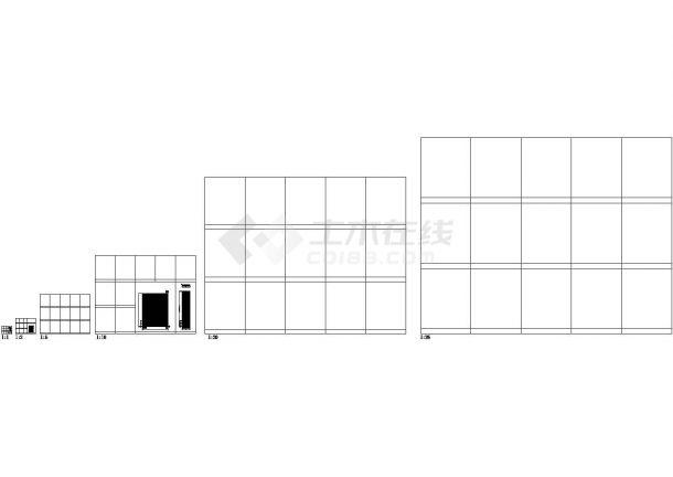 [北京]某饭店中餐厅室内装修设计cad施工图-图一