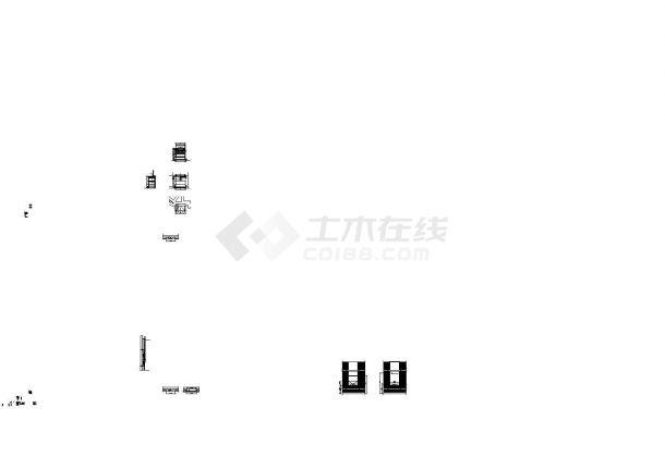 [北京]某饭店中餐厅室内装修设计cad施工图-图二