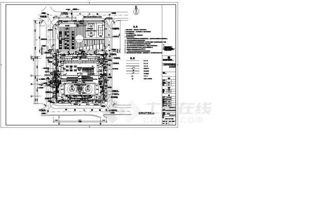 某单位室外给排水管网系统布置图-图二