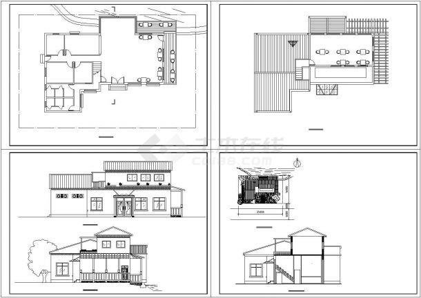 某地区咖啡厅建筑设计方案cad图-图一