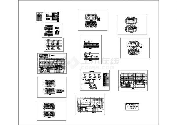 杭州某小区高层住宅楼电气图纸-图一