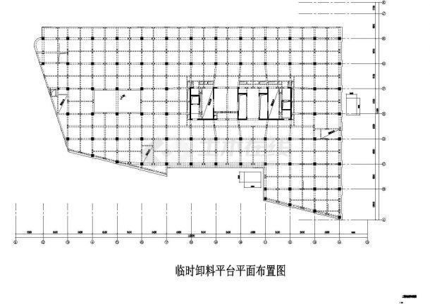 临时卸料平台平面布置图(含施工方案和计算书)-图一